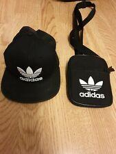 Adidas Snapback And Manbag Bundle Black Original Trefoil Logo Used