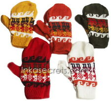 05 Alpaca wool Gloves, Convertible Mittens,