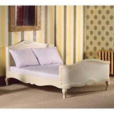 Dolls House miniatura scala 1:12th Crema francese-stile letto matrimoniale