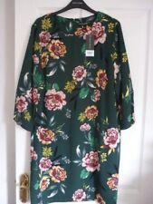 Dorothy Perkins Dark Green Multi Floral Shift Dress UK 18 EUR 46 US 14