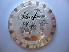 1 OZ.999 SILVER STACKABLE SILVERTOWNE PROSPECTOR POKER CARD GUARD COIN  + GOLD