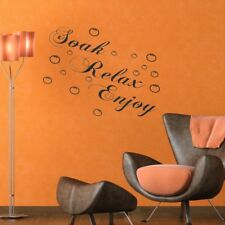 SOAK RELAX ENJOY Bathroom Wall Art Quote Sticker Vinyl Decal Home Art Decor