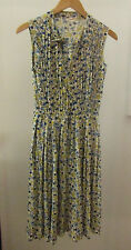 Womens Vintage 40s 50s LORD & TAYLOR Blue Yellow Dress ~ XS (T4)