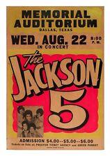 Vintage Music Poster, The Jackson 5 Poster, Concert Poster, Michael Jackson