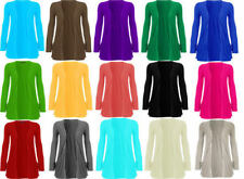 No Pattern Thin Jumpers & Cardigans Plus Size for Women