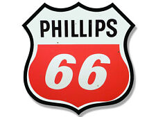 4x4 inch Vintage PHILLIPS 66 Logo Shaped Sticker - gas sign rat rod gasoline car