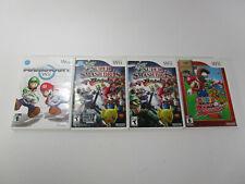 Lot of 4 Wii Game Empty Cases Mario Kart Super Smash Bros Brawl Super Sluggers