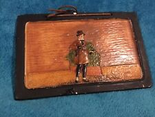 Bretby Dutch Micawber Scene Wall Plaque circa 1910 Reg No 742373