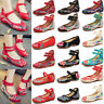 Womens Chinese Folk Embroidered Flower Soft Sole Ballet Pump Flat Floral Shoes