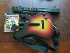Working PS3 Guitar Hero World Tour Wireless Guitar With Dongle & Game
