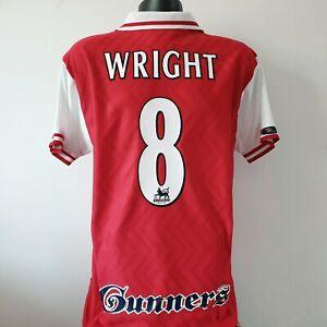 WRIGHT 8 Arsenal Shirt - Large - 1997/1998 - Home Jersey Nike JVC