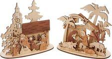 Weihnachtliche Tischdekorationen aus Holz Weihnachtsmann