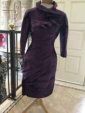 NWOT LOVE MOB evening formal social cocktail dress with bolero jacket purple  2