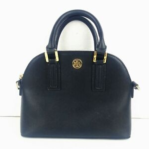 Tory Burch Women's Purse Handbag Crossbody Shoulder Strap Black Leather