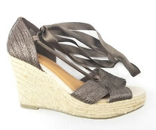 Old Navy Lace Up Espadrille Wedge Sandals Womens Size 9 Brown