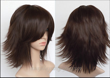 NEW Flip Out Cocoa Layered Short Straight Cosplay Wig Final Fantasy