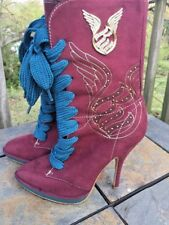 ROCAWEAR Roca Wear Stilettos WING BLING High Heels RARE Boots Womens Shoes Sz 7