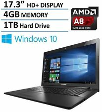 "NEW Lenovo 17.3"" 4GB/1TB 1600x900 HD+ Quad Laptop Win10 HDMI WiFi DVDRW USB 3.0"