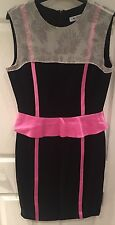 Olivia Rubin Black And Pink Dress Size UK12
