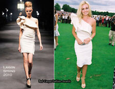 5K Auth LANVIN RUNWAY Off-White ONE Shoulder DRAMATIC Ruffle Assymetric DRESS