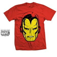 Marvel Comics Iron Man Big Head T-shirt Small Mens Official Red
