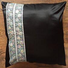 1 SILK Blend Black 45cm Cushion COVER  Sequin Lace LivingRoom Floral