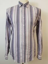 Men's Pink, Lilac & White Striped Long Sleeve Shirt by Ted Baker Size XL Ted 5