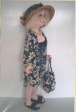 PATTERN - Olive at the Beach - fun character cloth doll PATTERN - Jill Maas