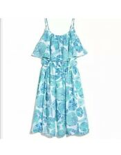 Lilly Pulitzer Women's Satin Flounce Dress Sea Urchin for You Sand Dollar NWT XS
