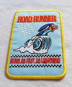 Road Runner Patch Vintage Aufbügler Aufnäher Old School Rockabilly Beep Beep