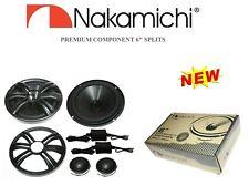 "Nakamichi NAK60 6"" Splits Car Speakers w/ Crossover & 1"" Titanium Tweeter (Pair)"