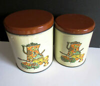 Vintage 1940s Decoware Canisters Kettle Coffee Pot design set of 2 FREE SH