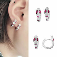 New Creative Small Hoop Earring White Color Crystal Snake Earring Women Jewelry