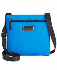 Calvin Klein Nylon Crossbody Blue & Black MSRP $98