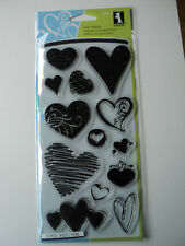 INKADINKADO CLEAR STAMPS - HEARTS BNIP *LOOK*