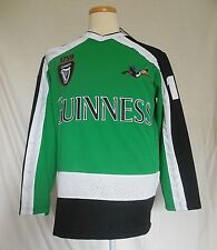 Guinness Mens Hockey Jersey Medium Green White Black Long Sleeve New wDefects