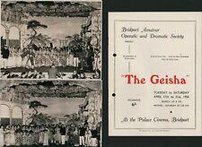 More details for bridport : 'the geisha' palace cinema 1956 with photographs   e2.529