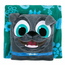 "Disney Store Fleece Throw / Pillow 2018 Puppy Dog Pals - Bingo (50"" x 50"") Nwt"