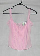 NEW Supre Womens baby pink mesh cami corset SIZE M RRP 25