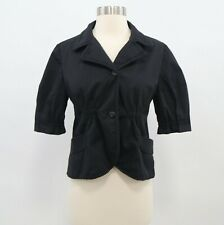 Miu Miu Cropped Shrunken Blazer Jacket Womens US4/6 IT42 Black Fitted