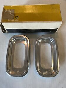 NOS 1960-1966 Chevy GMC Pickup Truck TailLamp BEZEL Tail Light Fleetside Pair