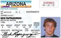 LAMPOON Nick Pappagiorgio National Lampoon Las Vegas card Drivers License -