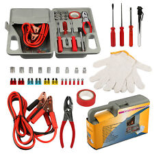 31 Pieces Emergency Roadside Car Tool Kit Jumper Drivers Cables Gloves Socket
