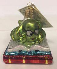 "Old World Christmas ""Bookworm"" Ornament-Glass"