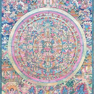 Mandala of Buddha Tantra Yoga Meditation Wall Hanging Handcrafted Master Artist