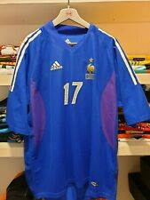 MAGLIA FRANCIA VS ISRAEL 2003 F.F.F FRANCE JERSEY PLAYER ISSUED MAILLOT PORTE'