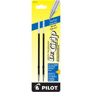 Pilot Dr. Grip Ballpoint Pen Refill in Blue - Fine Point - Pack of 2 - NEW P7721