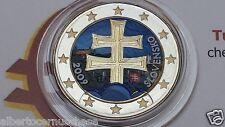 2 euro 2009 SLOVACCHIA smaltato colorato Slovaquie Slovensko slovakia Slowakei