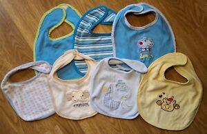 One size bib set baby boy mixed brands blue star elephant bear (B4)