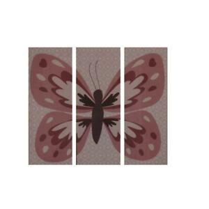CoCaLo Baby Emilia Pink Canvas Baby Girl Nursery Butterfly Wall Decor BHFO 3827